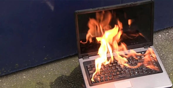 laptop fire - The Ultra-Modern Kitchen