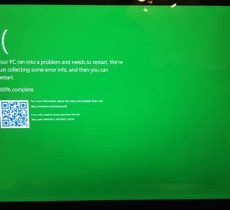Blue Screen of Death Becomes Green for Windows Testers