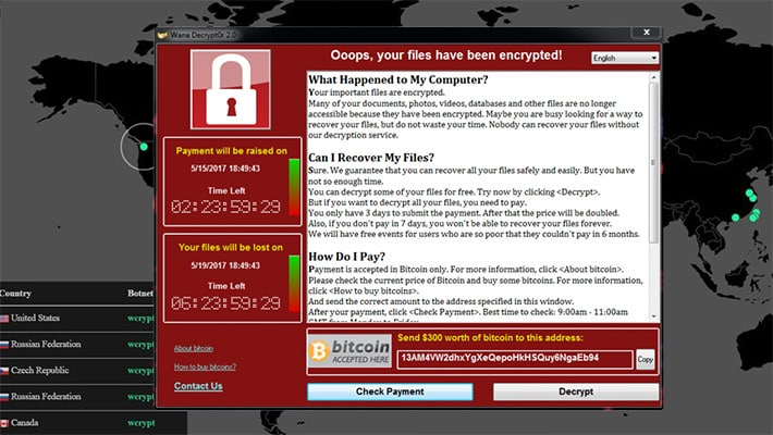Update Your Virus Software: New WCry Ransomware Spreading Quickly