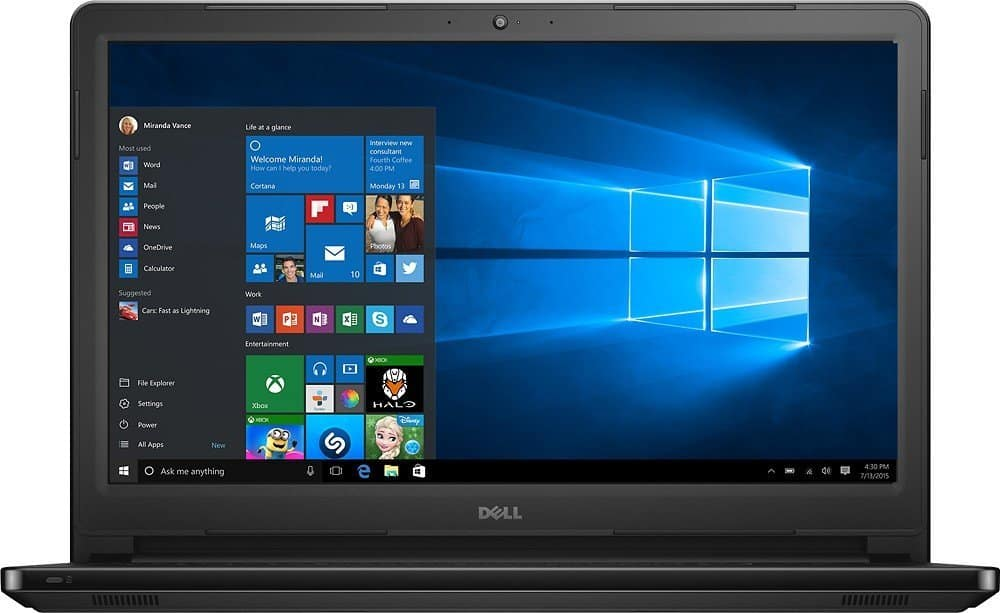 Dell Inspiron I5566-3000BLK 15.6-inch laptop